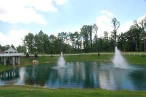 Gazebo & Lake